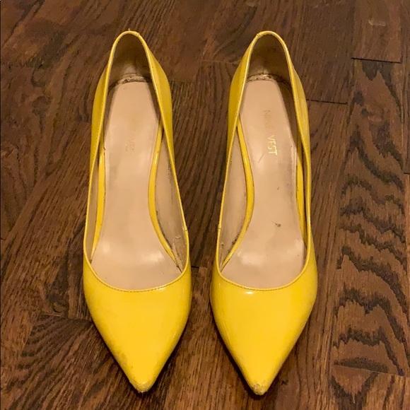 0cb488f1efa Nine West Canary Yellow Fifth Pointy Toe Pumps